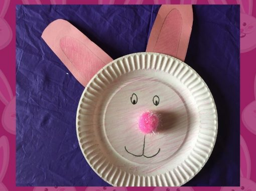 Make a Paper Plate Rabbit with Us!