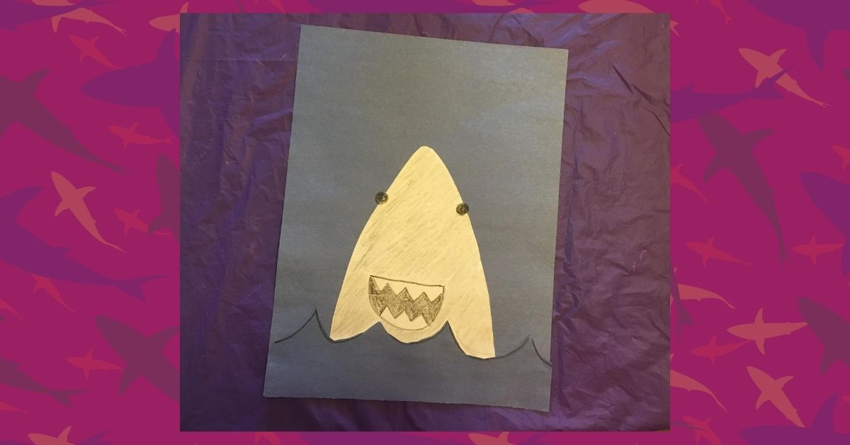 Make A Paper Shark With Us Final Product