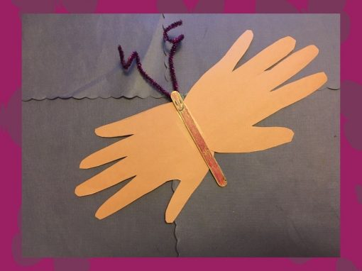 Make a Handprint Butterfly with Us!