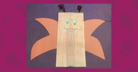 Make a Paper Bag Butterfly with Us!