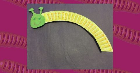 Make a Paper Plate Caterpillar with Us!